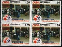 2013.4 CUBA 2013  BLOQUE 4 50 ANIV ADUANA SOCIALISTA CUBANA. - Cuba