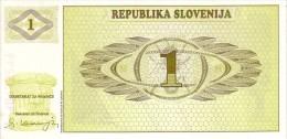 SLOVENIE    1 Tolar   Non Daté   Pick 1 A            *****  BILLET  NEUF ***** - Slovénie