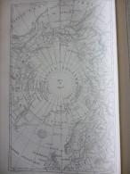 Cartes Générale Du Pole Nord , Gravure Alary Dessin Clerget 1881 Avec Texte - Historische Dokumente