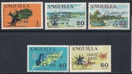 Série Complète Neuve LUXE Noël 1969 - Anguilla (1968-...)