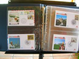Enveloppes FDC Illustrées TBE, Voyage Du Pape Saint Jean Paul II. Années 1988, 1989, 1990 (partielle) - Album F - Papes