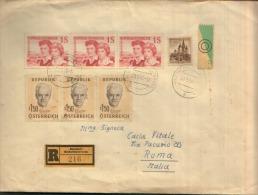 1960 8,50S. BERNDORF NIEDEROSTERREICH X ROMA IN REGISTERED MAIL - 1945-.... 2. Republik
