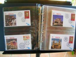 Enveloppes FDC Illustrées TBE, Voyage Du Pape Saint Jean Paul II. Années 1990 Et 1991 - Album G - Papes