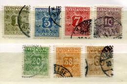 DANEMARK - DENMARK - DANMARK - COLLECTION 7 TIMBRES POUR JOURNAUX ANCIENS - 1907/15 - Numéros 7 à 18  OBLITERES - Autres