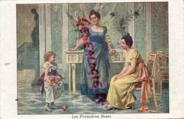 FANTAISIE FEMME ET ENFANT - LES PREMIERES ROSES - COSTUMES- ROBES- PUB CHOCOLAT LOUIT - Femmes