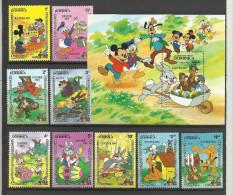 Walt Disney ** MNH  Dominica 785.93 + BF 86 Easter 1984  1984 Lapin Chien  Oeuf Pâques - Disney