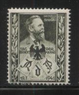 GERMANY 1941 THIRD REICH RDP HEINRICH VON STEPHAN PHILATELIC EXPO BLACK NHM POSTER STAMP CINDERELLA - Allemagne