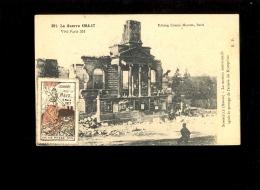 SOMMEILLE Meuse La Maison Communale Détruite Guerre 1914 17 + Vignette Journée De La Meuse 4 Mars 1917 Verdun - France
