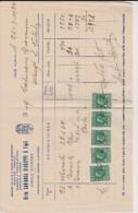 Casale Di Scodosia ( Padova ) Fattura 1928 - Historical Documents