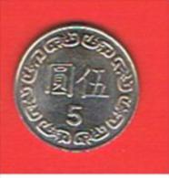 CHINA TAIWAN - 5 Dolar - Taiwan
