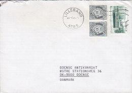 "Norway Deluxe LILLESAND 1981 Cover Brief To ODENSE Denmark 1.30 Kr. Schiff Ship ""Victoria"" Stamp - Briefe U. Dokumente"