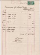 Casale Di Scodosia Fattura 1932 Fornace Laterizi - Documenti Storici