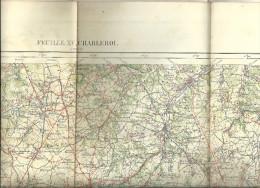 CHARLEROI CARTE GEOGRAPHIE  MILITAIRE  1907  Avant La 1e Guerre Mondiale     FEUILLE XV - Cartes Géographiques