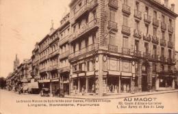 """Cpa  33  Bordeaux , """" Au Magot """" Lingerie,bonneterie , Fourrures - Bordeaux"""