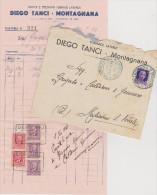 Montagnana Vecchia Fattura E Busta 1941 - Documenti Storici