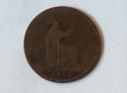 Grande-Bretagne 1 Penny 1866 - 1816-1901 : Frappes XIX° S.