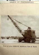 Fiche Technique CITRA Avec Photo Et Plan D'une Grue Sur Pneus Nordest - Chantier De Brienne 1956 - - Machines