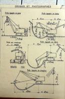 Fiche Technique  CITRA D'une PELLE NORD-EST C 40 En 1957 - Marcoule - Tools
