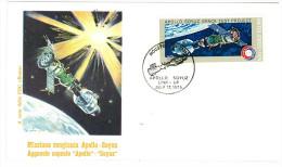 STATI UNITI - USA - MISSIONE CONGIUNTA APOLLO - SOYUZ - ANNO 1975 - ANNULLI  DELLE TRE BASI -  LUGLIO 1975 - Stati Uniti