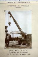 Fiche Technique CITRA D'une GRUE MOBILE Sur Pneus à Flèche Télescopique - Marcoule 1958 - Démontage Centrale à Béton - Tools