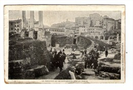 Cp , ITALIE , Roma , Rome ,  Le Président Et Le Commandeur Boni Au Forum , Vierge , Imp : Crété - Roma