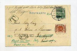 1901 Dt. Reich / Belgien Ansichtskarte Mit Nachporto 10 C Heyst Sur Mer - Portomarken