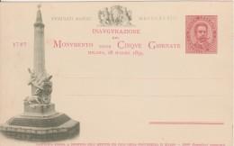 Inaugurazione Del Monumento Delle 5 Giornate Di Milano- 18 Marzo 1895 - Inaugurazioni