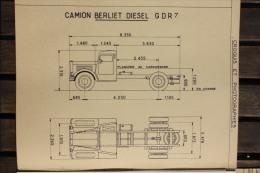 Fiche Technique CITRA D'un CAMION BENNE BERLIET Type GDR7 - Chantier De Casablanca En 1948 - Tools