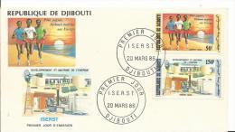 Enveloppe Premier Jour -Republique De DJIBOUTI - 1986 - DJIBOUTI - Maitrise De L'Energie - Djibouti (1977-...)