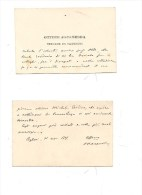 $3-3657 1901 SARDEGNA CAGLIARI SINDACO BIGLIETTO AUTOGRAFO RACCOMANDAZIONE. - Autographs