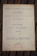 Plan Notice De Montage : Coffrage Type Standart - Société COFRAL - 1956 - Voir Les Scans - Planches & Plans Techniques