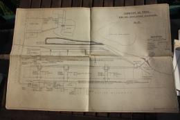 Plan Du Chantier De PRIOK Jakarta Indonésie  Plan Des Installations électriques De 1957 - Planches & Plans Techniques