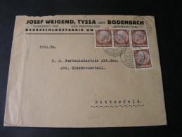 == CSR  Cv. Bodenbach Decin 1939 Reklame  1938 - Czechoslovakia