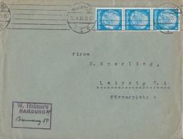 DR Brief Mef Minr.3x 467 Hamburg 27.4.33 - Deutschland