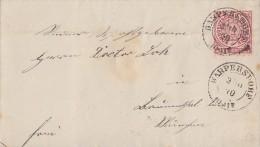 NDP Brief EF Minr.16 Harpersdorf 3.10.70 - Norddeutscher Postbezirk