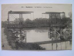 Cpa, Très Belle Vue, Nanterre, La Sablière, Le Pont Levis - Nanterre