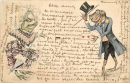 Grnouilles Humanisées - CPA Illustrateur- Voyagée En 1902 - Voir  2 Scans - Ohne Zuordnung