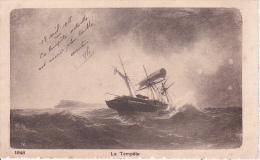 CPA La Tempête (1839) - Segelboote