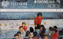 PAPUA NEA GOUINEA PHONECARD IGAM ELEMENTARY CLASS- 40000pcs-USED - Papua New Guinea