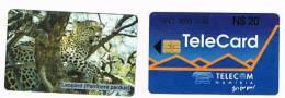 NAMIBIA - NAMIBIA TELECOM - LEOPARD  (PANTHERA PARDUS) - USATA (USED)  -  RIF. 2483
