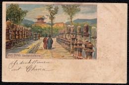 OLD CHINESE CARD - * CHINA GEDENKSTEINE ( Memory Stones ) * (German Card) - Chine