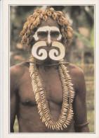 PAPUA-NEW GUINEA. Nouvelle-Guinée. Guerrier Asmat.  -  New Guyinea. Asmat Warrior. - Papouasie-Nouvelle-Guinée