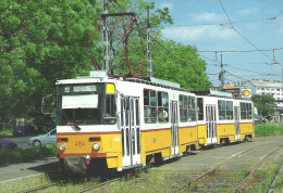 TRAM TRAMWAY RAIL RAILWAY RAILROAD * TATRA BKV KOBANYAI STREET BUDAPEST SHELL SERVICE STATION * Top Card 0350 * Hungary - Tram