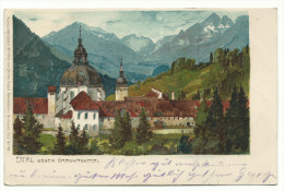 "1900, Zeno Diemer,  "" Ettal Gegen Graswanghtal"" Viaggiata. - Diemer, Zeno"