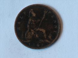 Grande-Bretagne 1/2 Half Penny 1862 - 1816-1901 : Frappes XIX° S.