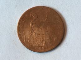 Grande-Bretagne 1/2 Half Penny 1890 - 1816-1901 : Frappes XIX° S.