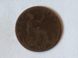 Grande-Bretagne 1/2 Half Penny 1892 - 1816-1901 : Frappes XIX° S.
