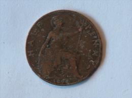 Grande-Bretagne 1/2 Half Penny 1898 - 1816-1901 : Frappes XIX° S.