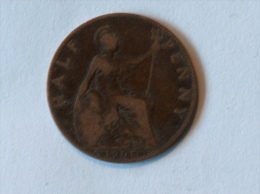 Grande-Bretagne 1/2 Half Penny 1905 - 1902-1971 : Monnaies Post-Victoriennes