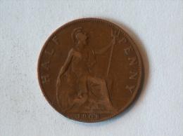 Grande-Bretagne 1/2 Half Penny 1908 - 1902-1971 : Monnaies Post-Victoriennes